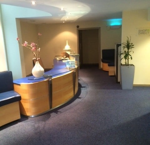 Lobby flooring. Installed by All The Floors. Domestic and Commercial Flooring Specialists. Hertfordshire.