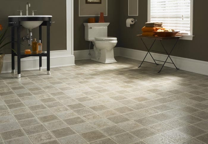 Bathroom tile flooring. All The Floors. Domestic and Commercial Flooring Specialists. Hertfordshire.