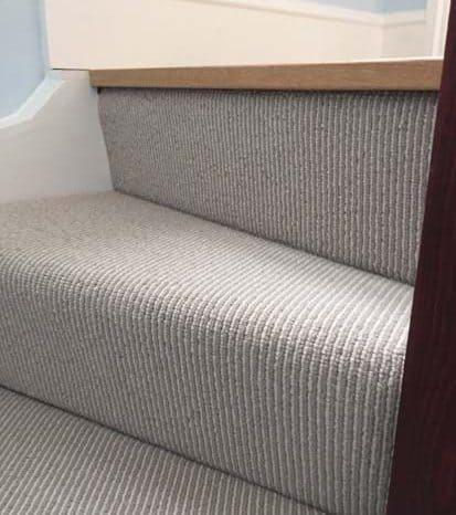 Bespoke stair carpet installation.
