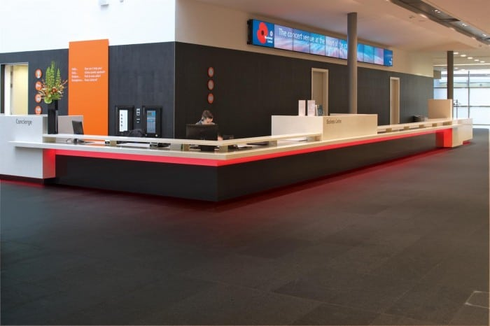 Lobby flooring. All The Floors. Domestic and Commercial Flooring Specialists. Hertfordshire.