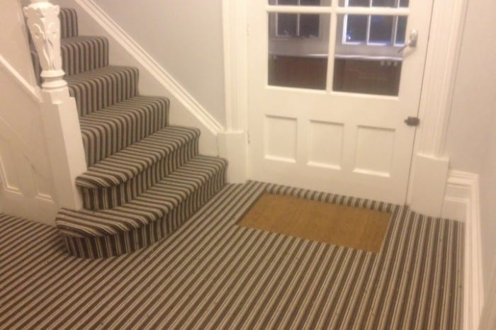 Entrance hall flooring installation. All The Floors. Domestic and Commercial Flooring Specialists. Hertfordshire.