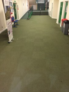 Wodson Park, Ware before All The Floors installed hard wearing floor tiles. Commercial flooring solutions.