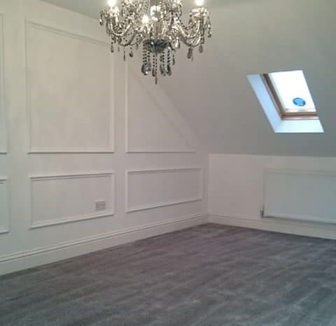 Luxury carpet bedroom installation. All The Floors. Domestic and Commercial Flooring Experts.