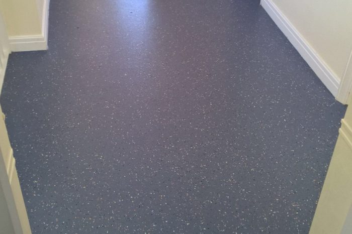 Commercial safety flooring installation. All The Floors.
